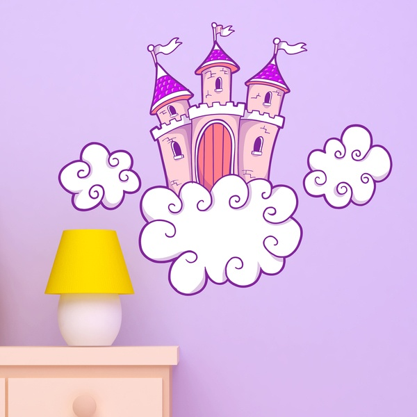 Kinderzimmer Wandtattoo: Schloss in den Wolken