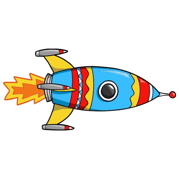 Kinderzimmer Wandtattoo: Rocket 2