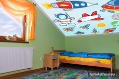 Kinderzimmer Wandtattoo: Rocket 2 3