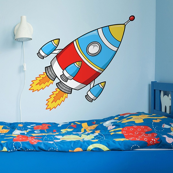 Kinderzimmer Wandtattoo: Rocket 3