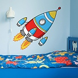 Kinderzimmer Wandtattoo: Rocket 3 4