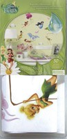 Kinderzimmer Wandtattoo: Disney Fairies Wandtattoo mit Glitter 2