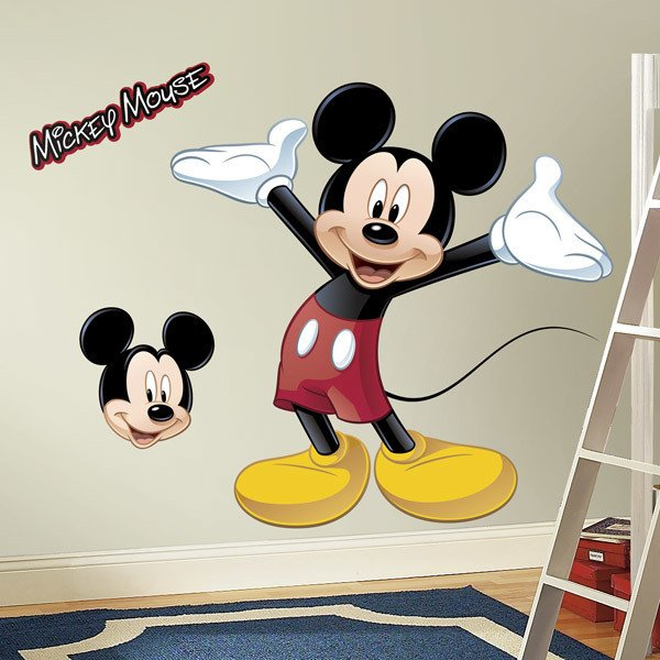 Wandtattoo Micky Maus With Minnie Mouse Wandsticker