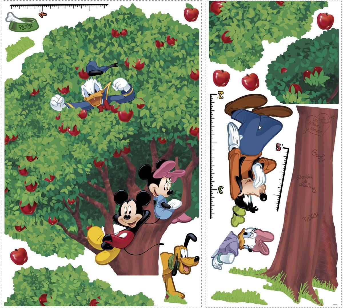 Kinderzimmer Wandtattoo: Wandtattoo Baum Messlatte Mickey und Freunde