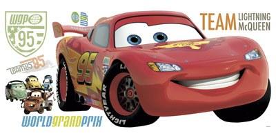 Kinderzimmer Wandtattoo: Riesige Lightning McQueen Wandtattoo 1