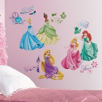Kinderzimmer Wandtattoo: Wandtattoo Disney Princess Royal Debut 0