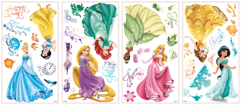 Kinderzimmer Wandtattoo: Wandtattoo Disney Princess Royal Debut