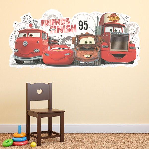 Kinderzimmer Wandtattoo: Cars 2 Freunden die Fertig