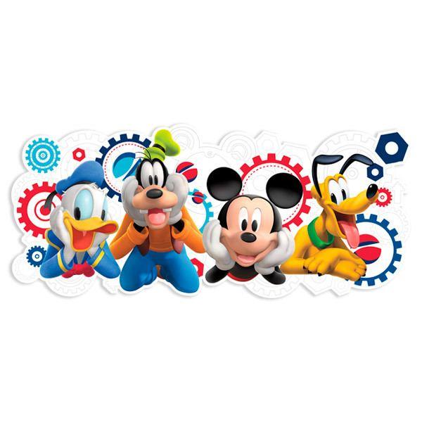 Wandtattoo Kinder Das Haus Von Micky Maus Und Seinen Freunden