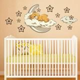 Kinderzimmer Wandtattoo: Bären in den Wolken und Mond neutrale 0