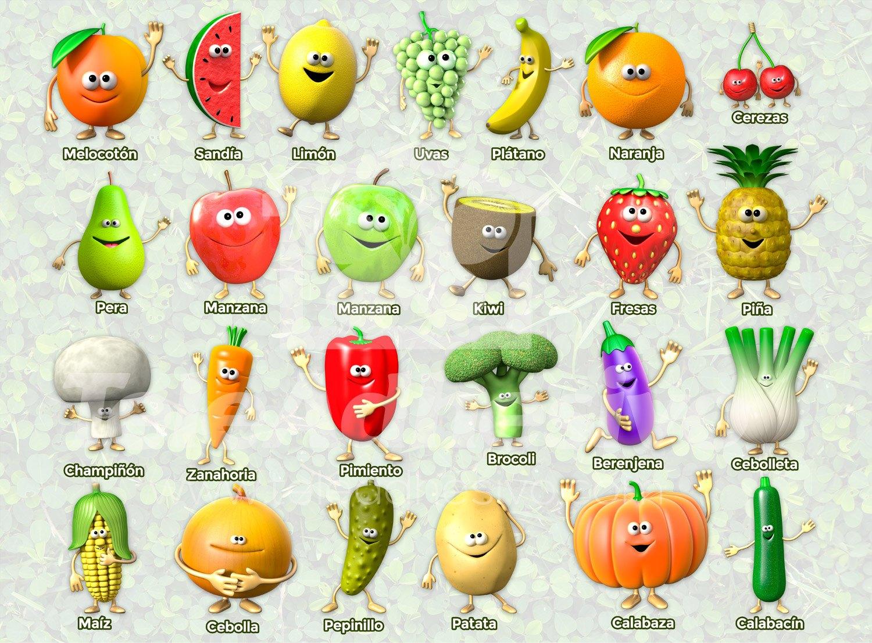 Wandtattoos: Früchte und Gemüse