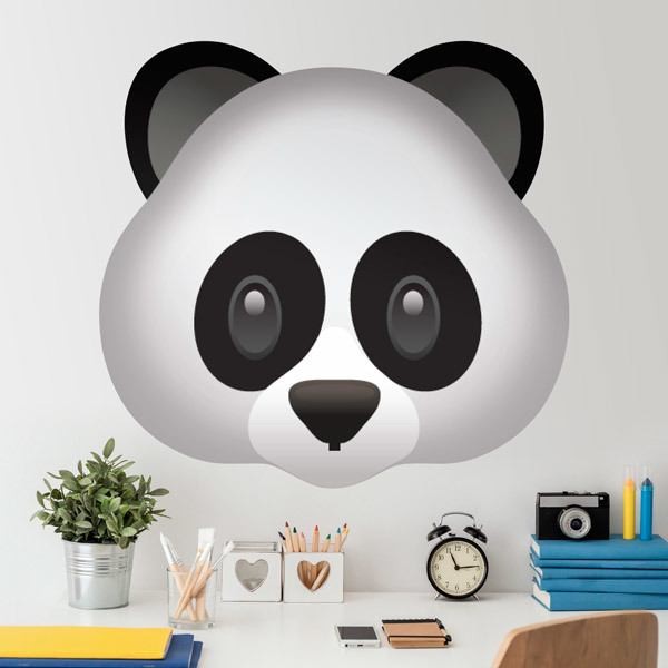 wandtattoos panda gesicht. Black Bedroom Furniture Sets. Home Design Ideas