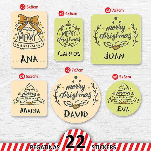 Frohe Weihnachten Aufkleber.Frohe Weihnachten Individuelles Etikettenset Webwandtattoo Com