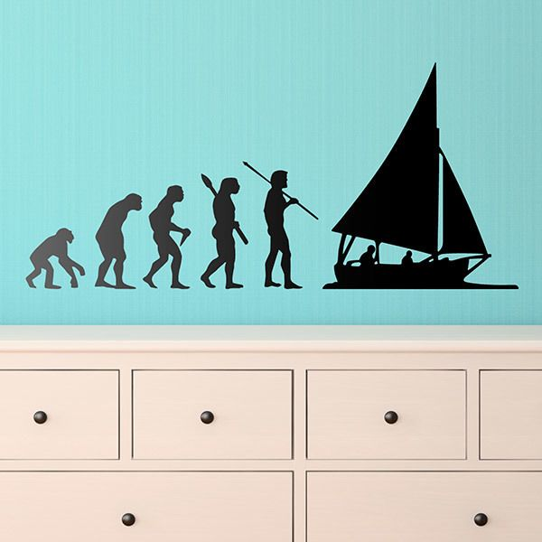 Wandtattoos: Segeln evolution