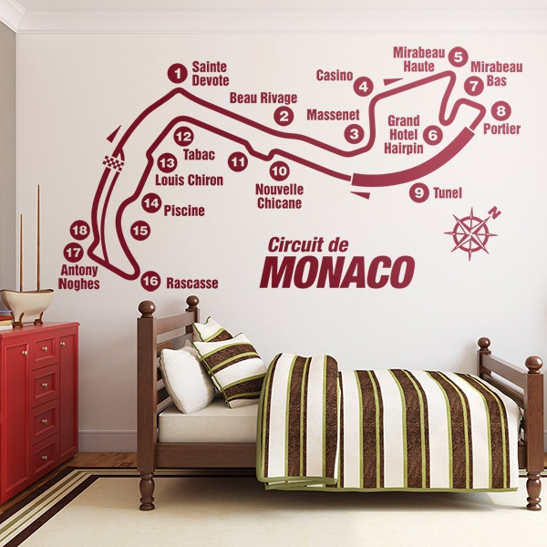 Wandtattoos: Rennstrecken durch Monaco