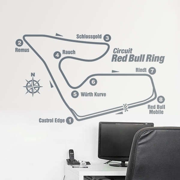 Wandtattoos: Red Bull Ring Rennstrecken