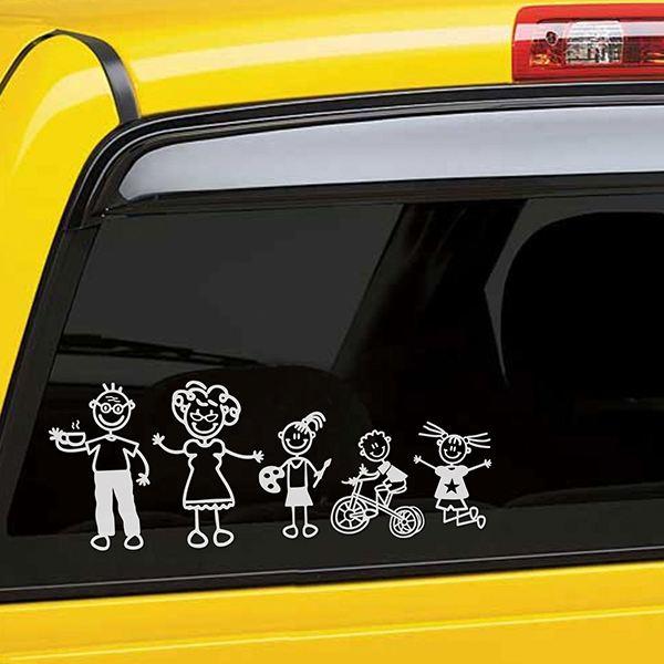 aufkleber familie f r auto kind mit spielzeug auto. Black Bedroom Furniture Sets. Home Design Ideas