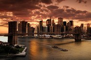 Fototapeten: Sonnenuntergang in New York 6