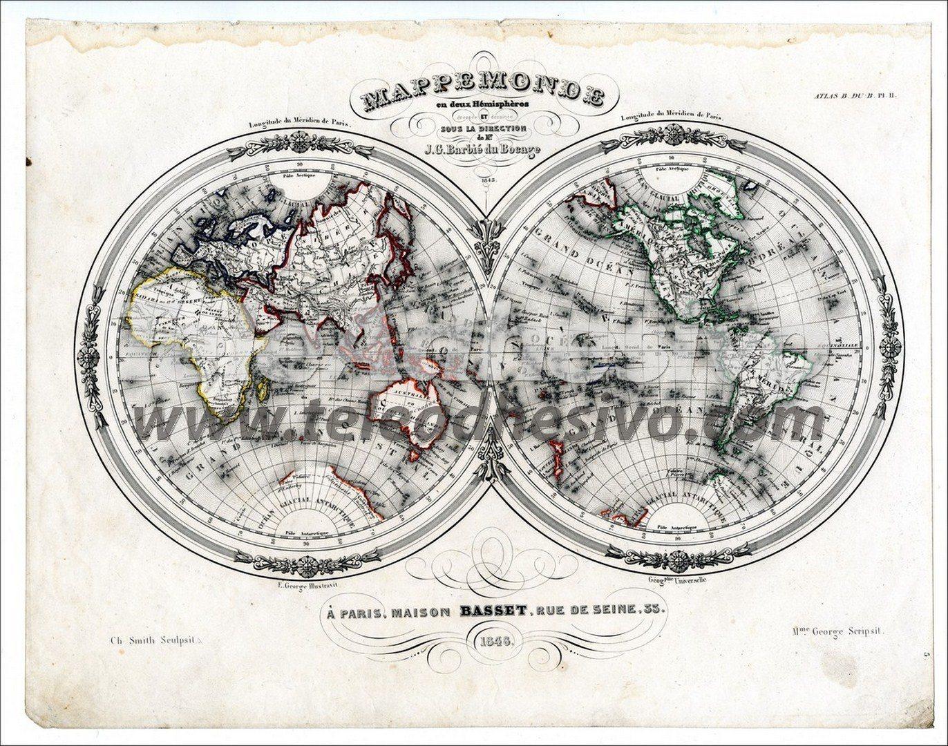 Fototapeten: Weltkarte 3