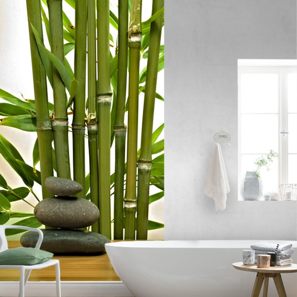 Wallpaper bambus und steine  Bambus und Steine