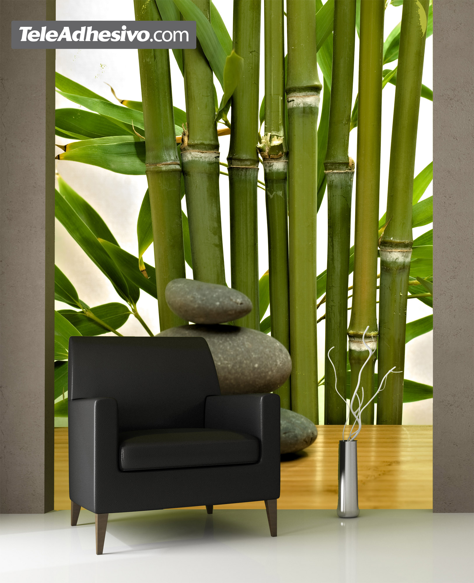 Fototapeten: Bambus und Steine