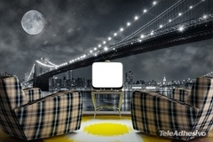 Fototapeten: Big Bridge Nacht 1