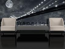 Fototapeten: Big Bridge Nacht 4