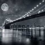 Fototapeten: Big Bridge Nacht 5