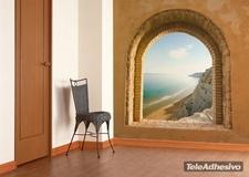Fototapeten: Fenster zu Meer 2