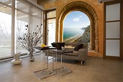Fototapeten: Fenster zu Meer 4