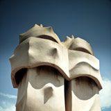 Fototapeten: Schornsteine der Casa Mila 2