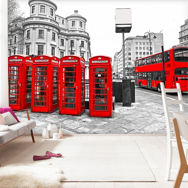 Fototapeten: London in Red