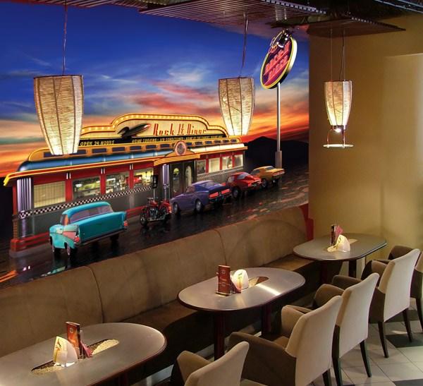 Fototapeten: Retro American Diner