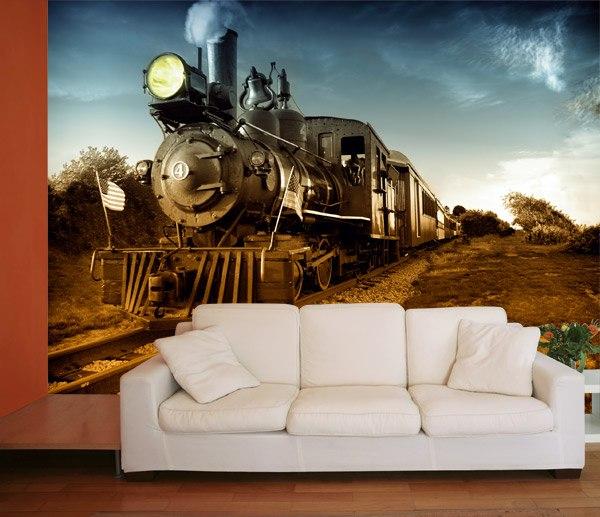 Fototapeten: Vintage Locomotive