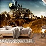 Fototapeten: Vintage Locomotive 3