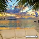Fototapeten: Atardecer playa 2