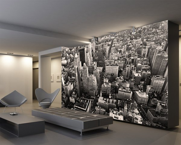 fototapeten new york skyscrapes. Black Bedroom Furniture Sets. Home Design Ideas