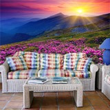 Fototapeten: Pink Flowers  Mountain 2