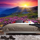 Fototapeten: Pink Flowers  Mountain 3