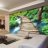 Fototapeten: Puente de madera 0