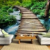 Fototapeten: Puente de madera 3