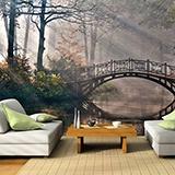 Fototapeten: Puente en el bosque 3