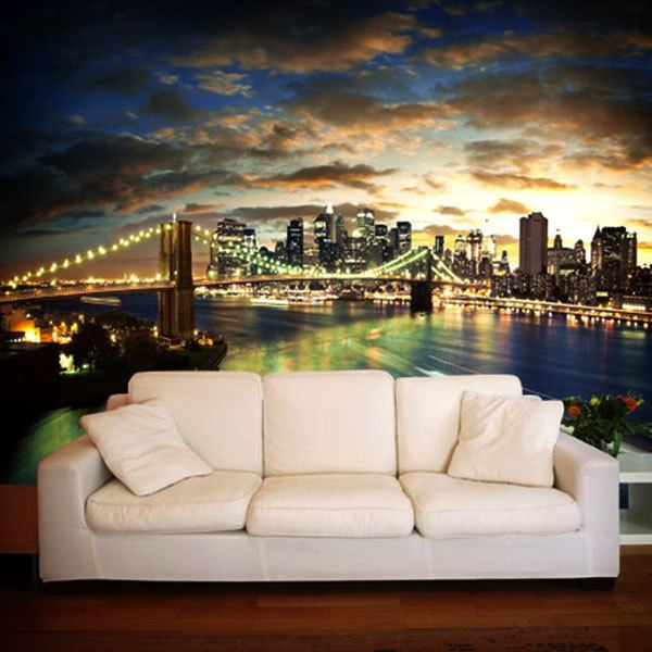 new york cityscape. Black Bedroom Furniture Sets. Home Design Ideas