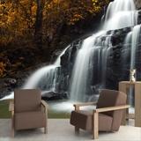 Fototapeten: Herbst Wasserfall 1