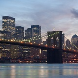 Fototapeten: Brooklyn Bridge im Nebel 2