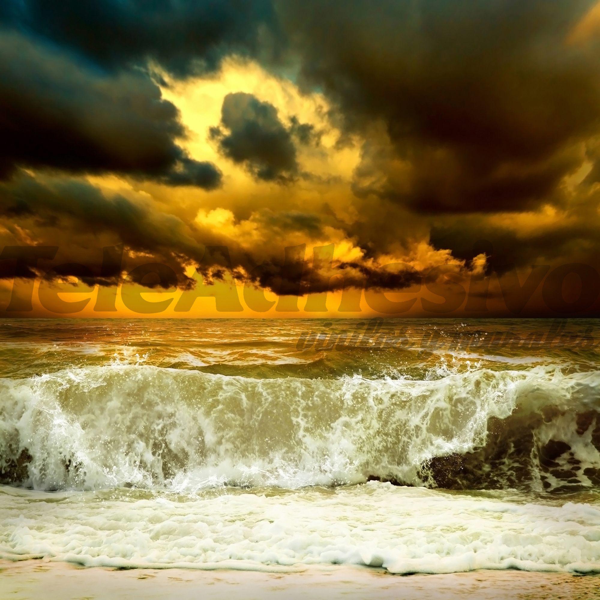 Fototapeten: Welle vor dem Sturm 2