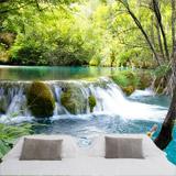 Fototapeten: Vegetation und der Fluss-und Wasserfall 4