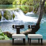Fototapeten: Vegetation und der Fluss-und Wasserfall 5