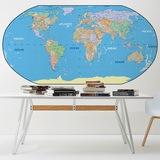 Fototapeten: Weltkarte 0