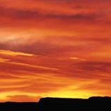Fototapeten: Rötlich Sonnenuntergang 1